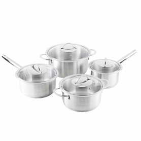 SET DE CASSEROLES ET FAITOUTS INOX MODÈLE INTUITIVE KITCHENCOOK