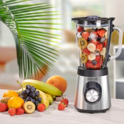 BLENDER EN VERRE GRADUÉ 500W CORP ET LAME INOX B9TURBO_INOX DE KITCHENCOOK