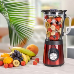 BLENDER EN VERRE GRADUÉ 500W CORP ET LAME INOX B9TURBO_RED DE KITCHENCOOK