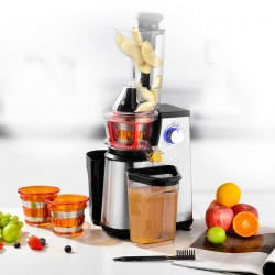 EXTRACTEUR DE FRUITS ET LEGUMES 3 TAMIS MODELE ULTIMATE INOX A PRESSION DOUCE DE KITCHENCOOK